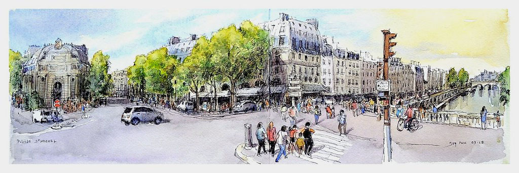 Guy-MOLL--Paris-Saint-Michel---France.jpg