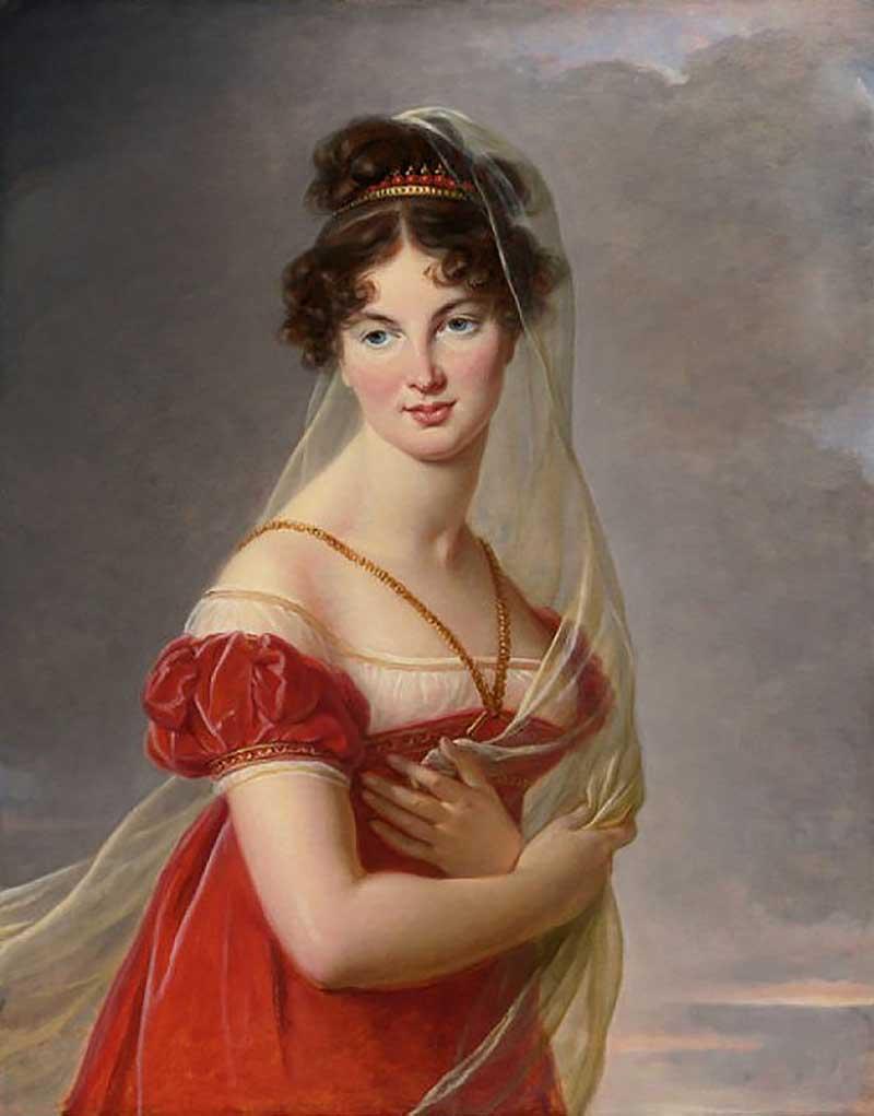 5.Аглая Антоновна Давыдова (1787–1847) ,1824 год ,.Частная коллекция Французская художница Мари Элиз