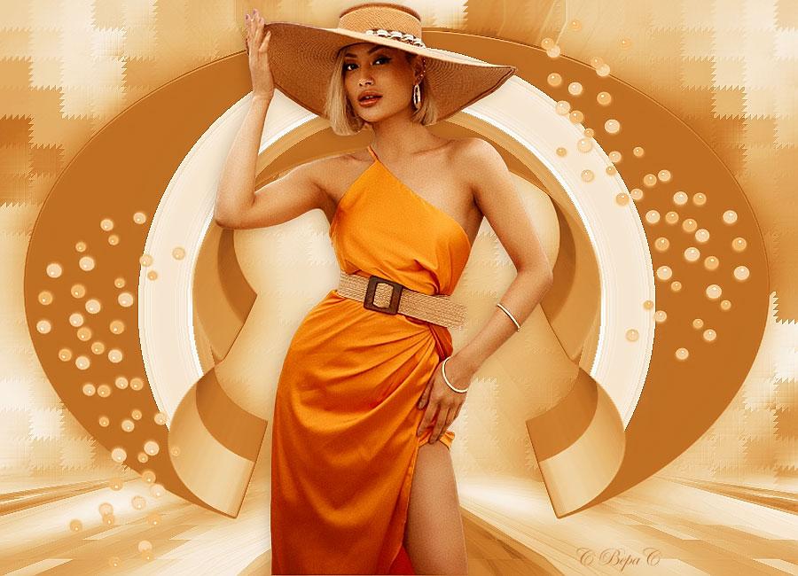 желтое платье декор шарики